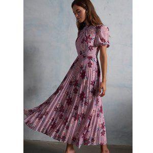 NWT ML Monique Lhuillier Lilac Floral Maxi Dress 2